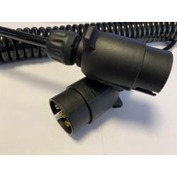 Propojovací špirálový kabel - 2x zástrčka 7-PIN